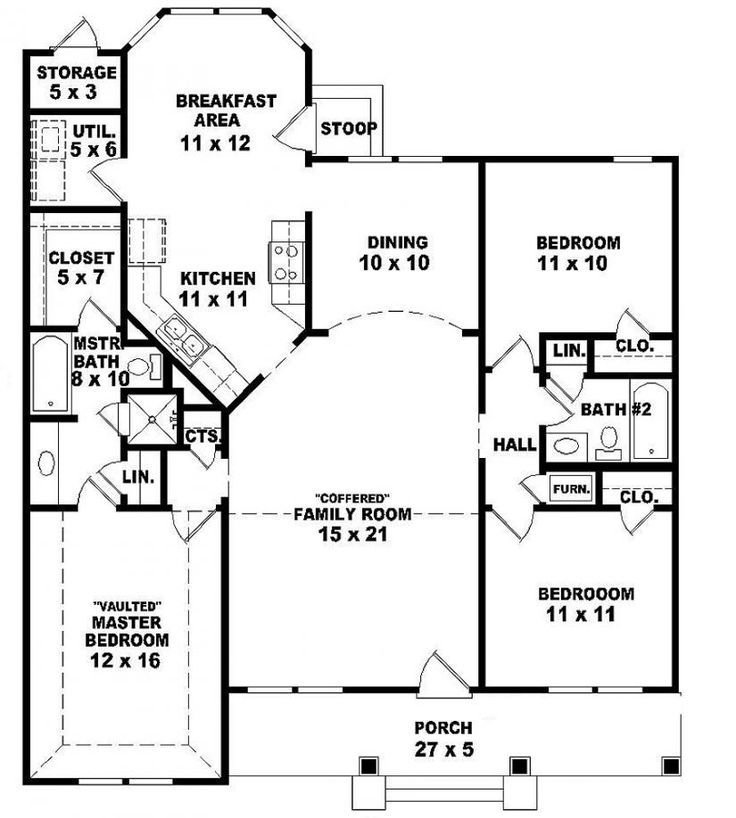Best 654069 One Story 3 Bedroom 2 Bath Ranch Style House Plan House Plans Floor Plans Home With Pictures