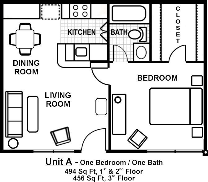 Best Small One Bedroom Apartment Floor Plans Google Search With Pictures