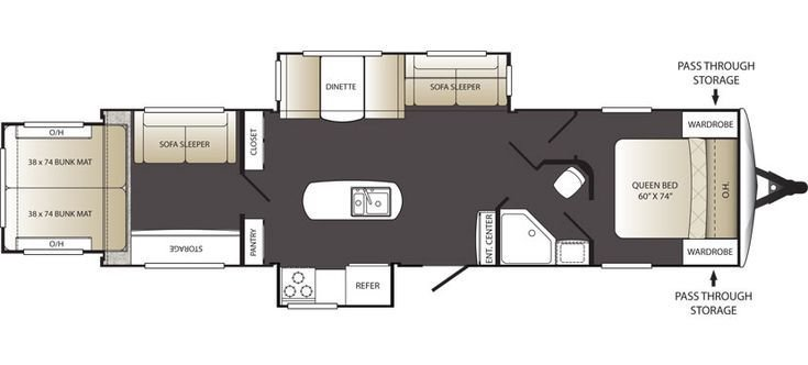 Best Keystone Rv 332Trs Floorplan Outback Terrain 332Trs 2 With Pictures