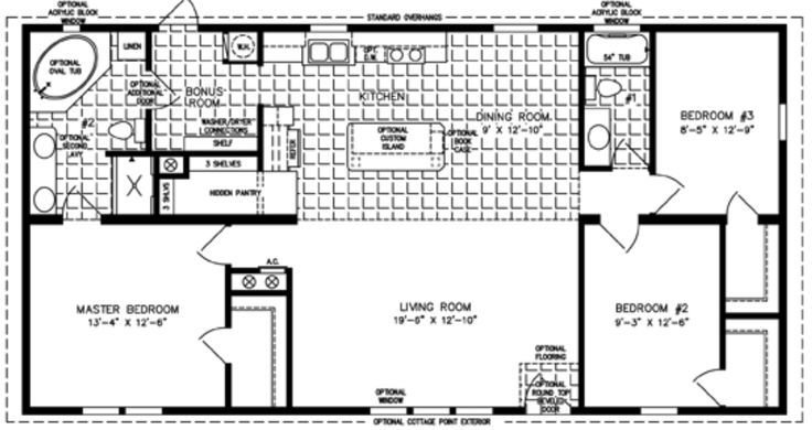 Best 3 Bedroom Mobile Home Floor Plan Bedroom Mobile Homes With Pictures