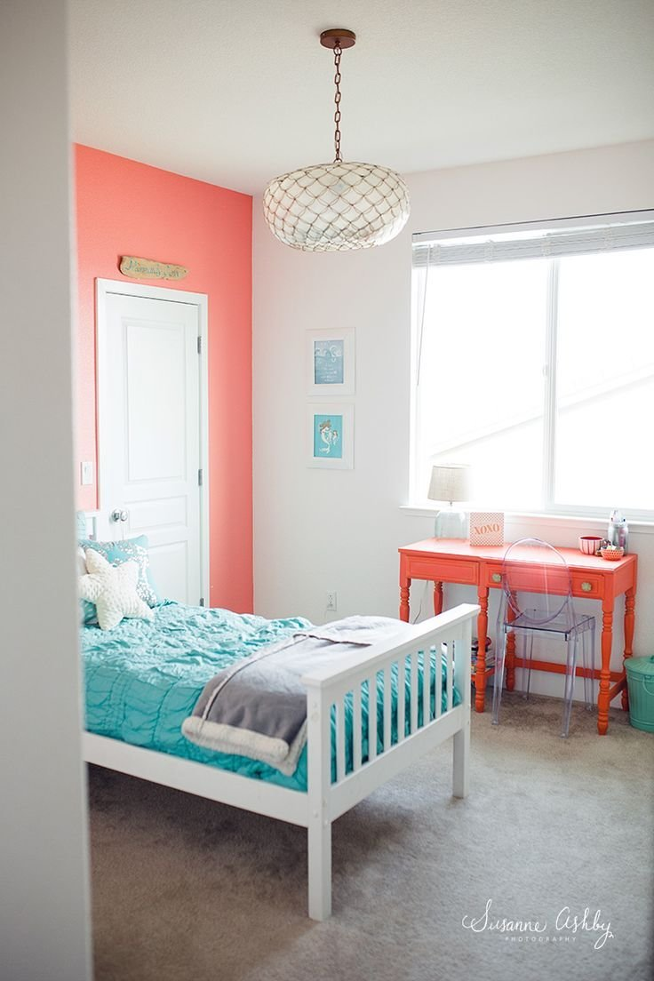 Best Girls Bedroom Coral And Teal Kids Room Decorating Ideas Pinterest Artworks Coral Walls With Pictures