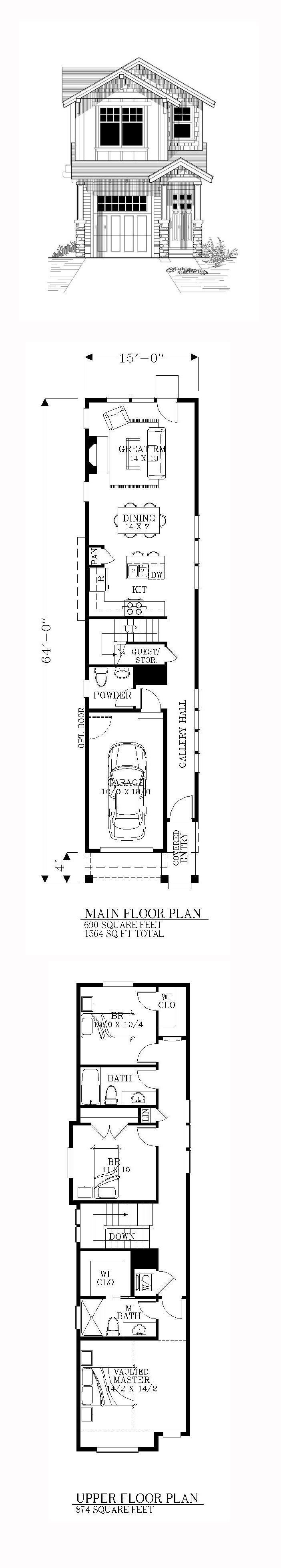 Best 25 Narrow House Plans Ideas On Pinterest With Pictures
