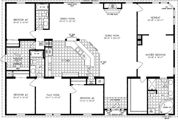 Best Floorplans For Manufactured Homes 2000 Square Feet Up With Pictures