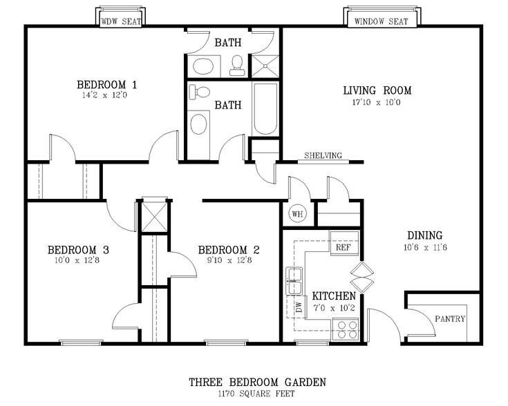 Best Standard Living Room Size Courtyard 3 Br Floor Plan Jpg 1600×1280 Building My Empire Pinterest With Pictures