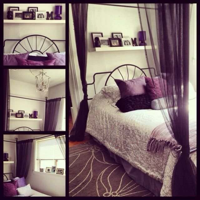 Best My Bedroom Purple Black Grey And White Amazing Bedrooms With Pictures