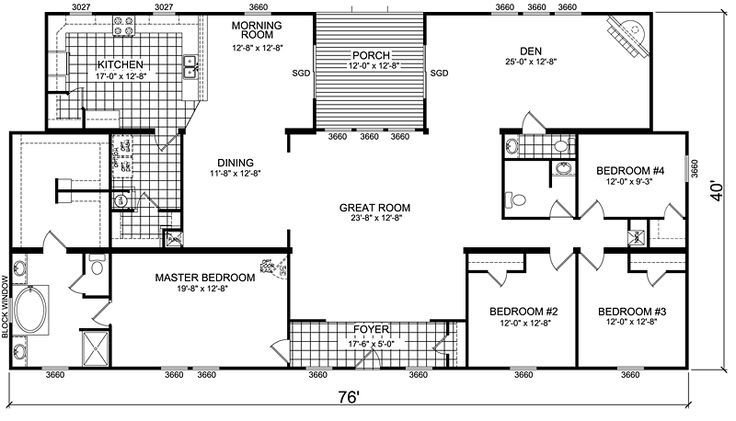 Best Triple Wide Mobile Home Floor Plans Manufactured Home With Pictures