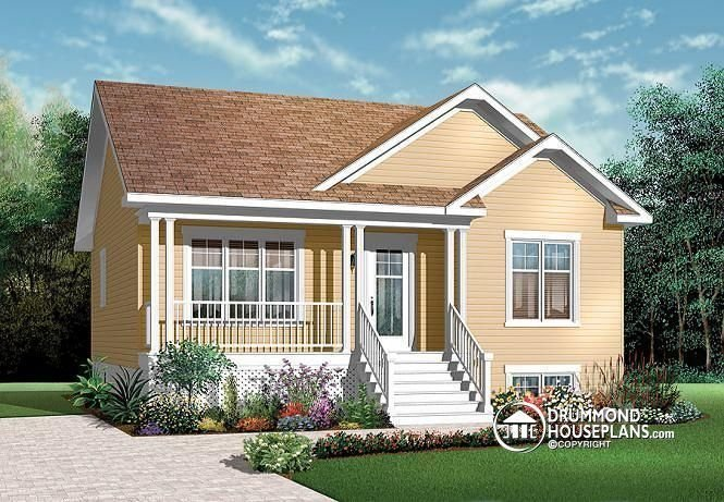 Best W3122 Affordable 2 Bedroom Transitional Style Bungalow With Pictures