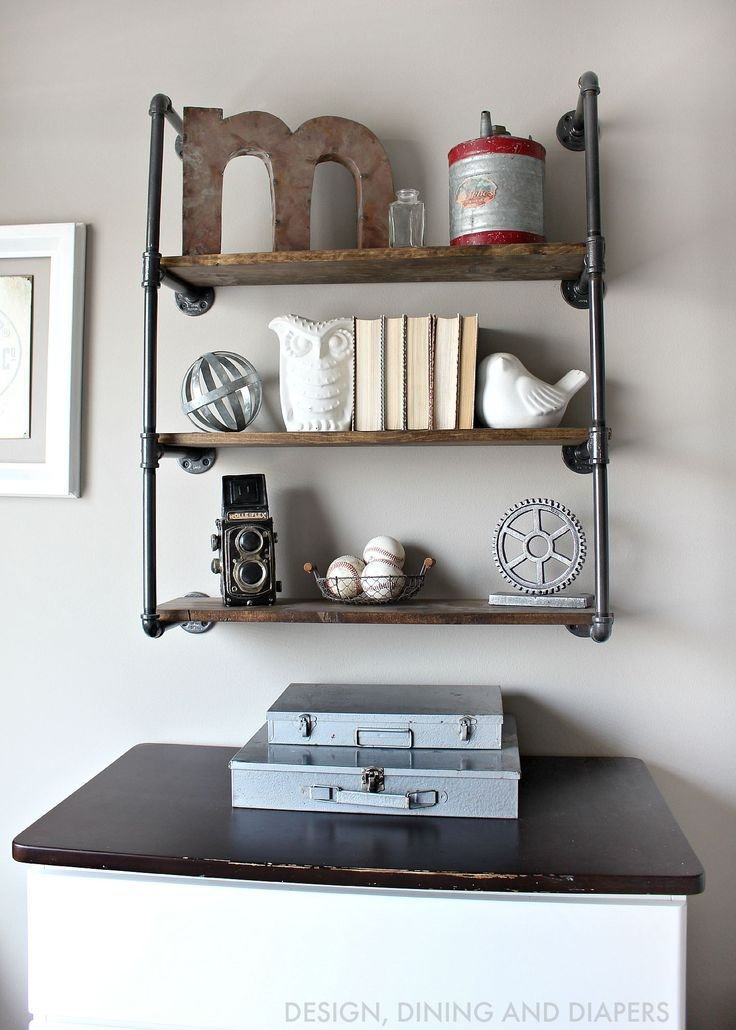 Best Rustic Toddler Boys Room Industrial Pipe Shelves And Boys With Pictures