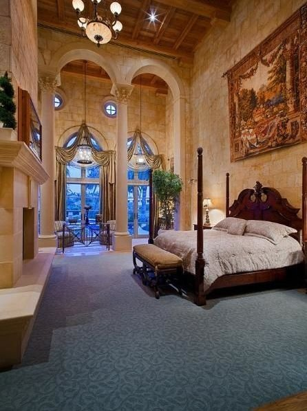 Best Palatial Two Story Master Suite In Mediterranean Style Boca Raton Florida Villa Beds Fit For With Pictures