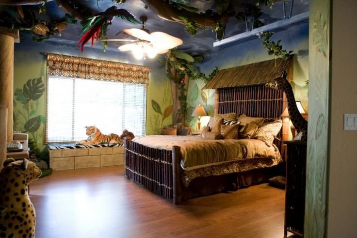 Best Jungle Themed Rooms Jungle Theme Room Grandchildren S With Pictures