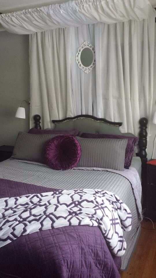 Best Grey Purple Black And White Master Bedroom Wall Lamps From And Rast Side Tables From Ikea With Pictures