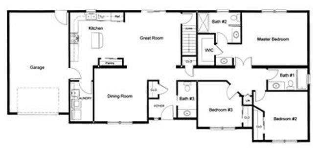 Best 3 Bedroom 2 ½ Bath Open Modular Floor Plan Created And With Pictures