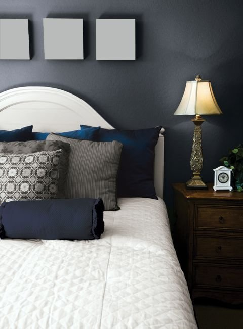 Best 1000 Images About Dark Blue Or Taupe Bedroom Paint On With Pictures