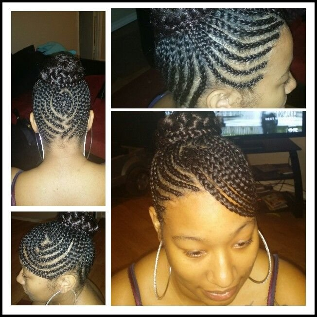 Free Swoop Bang Updo With Braided Bun Cute Cornrows Wallpaper