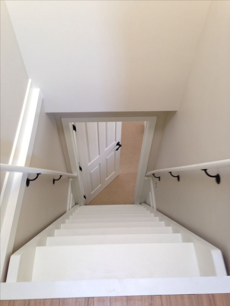 Best Attic Stairs From Atop Attic Pinterest In Kitchen With Pictures