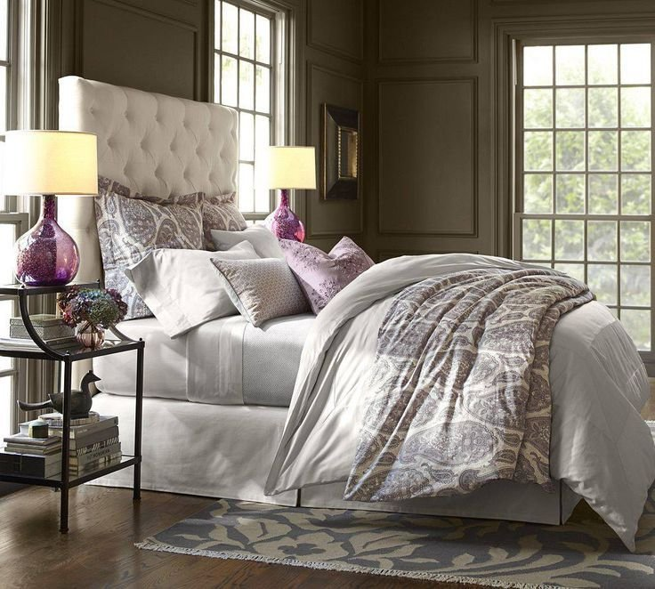 Best Grey Purple Taupe Pottery Barn Bedroom Grey Tapue Creme White Bedrooms Pinterest With Pictures