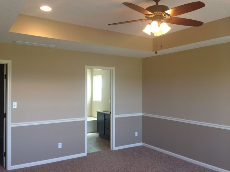 Best I Like The Tray Ceiling And Two Tone Walls With Chair Rail With Pictures