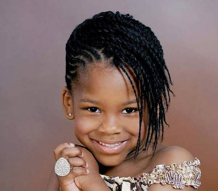 Free African American Little Girl Hairstyles With Side Bangs Wallpaper