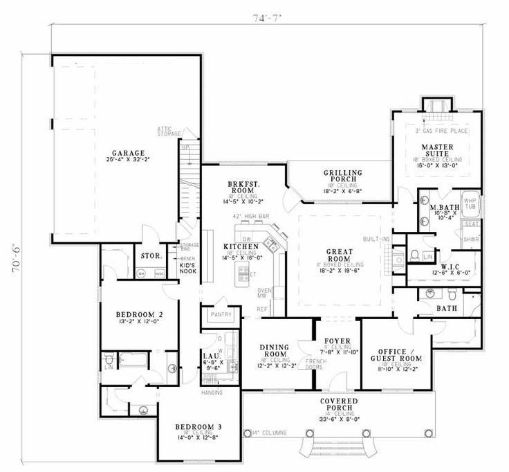Best 4 Bed 3 Bath Ranch 2556 Sq Ft Office In 4Th Bed Or With Pictures
