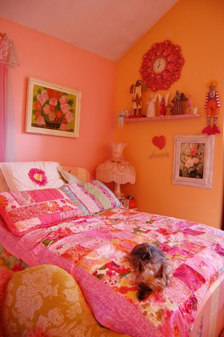 Best This Is A Shot Of My Pink And Orange Bedroom I Just Love With Pictures