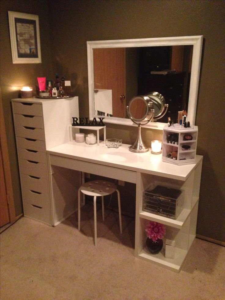 Best Makeup Organization And Storage Desk And Dresser Unit With Pictures