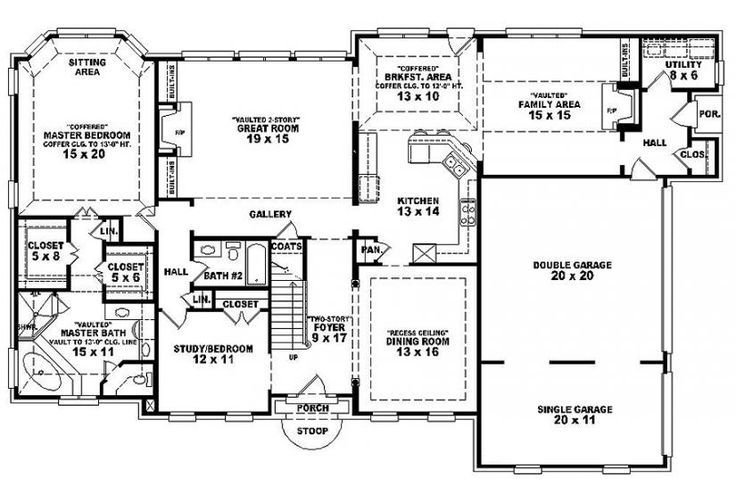 Best 6 Bedroom Single Family House Plans House Plan Details Homes Pinterest Traditional With Pictures