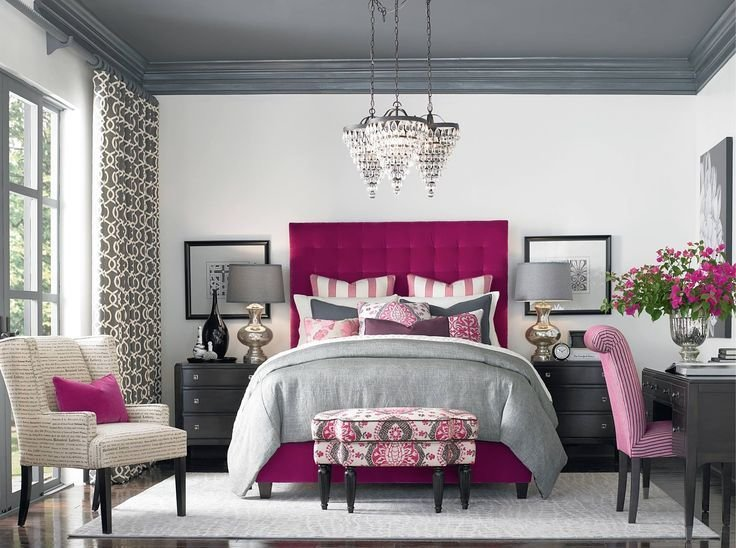 Best Raspberry Accents Love It From Hgtv Master Bedroom With Pictures