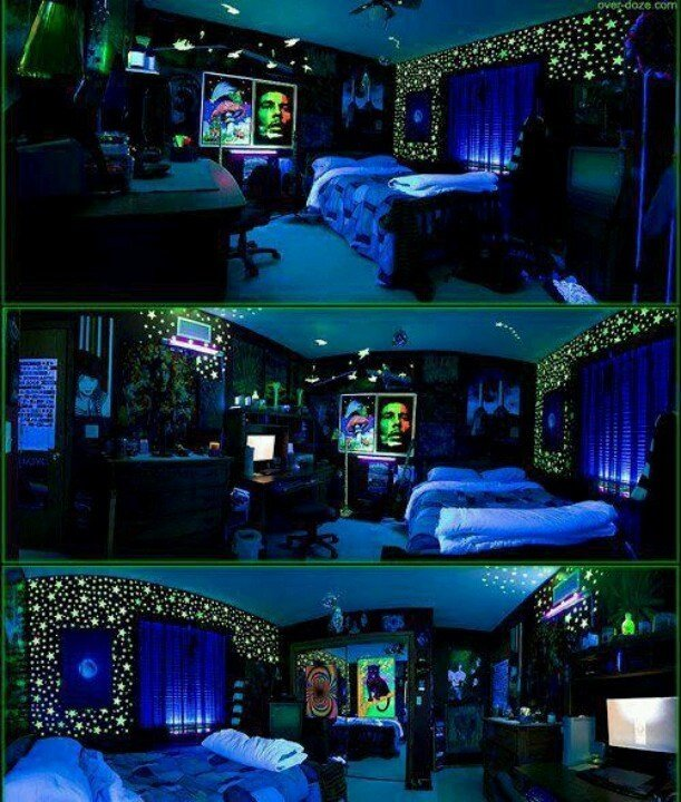 Best Black Light Stoner Room Awesome Rooms Pinterest With Pictures