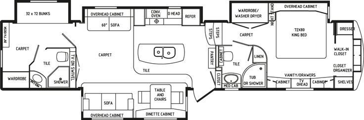 Best Rv 2 Bathroom Floor Plans View Profile Rvs Pinterest With Pictures