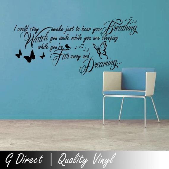 Best Aerosmith Breathing Lyrics Wall Sticker Quote Bedroom By Gdirect £14 99 Quotes And What Nots With Pictures
