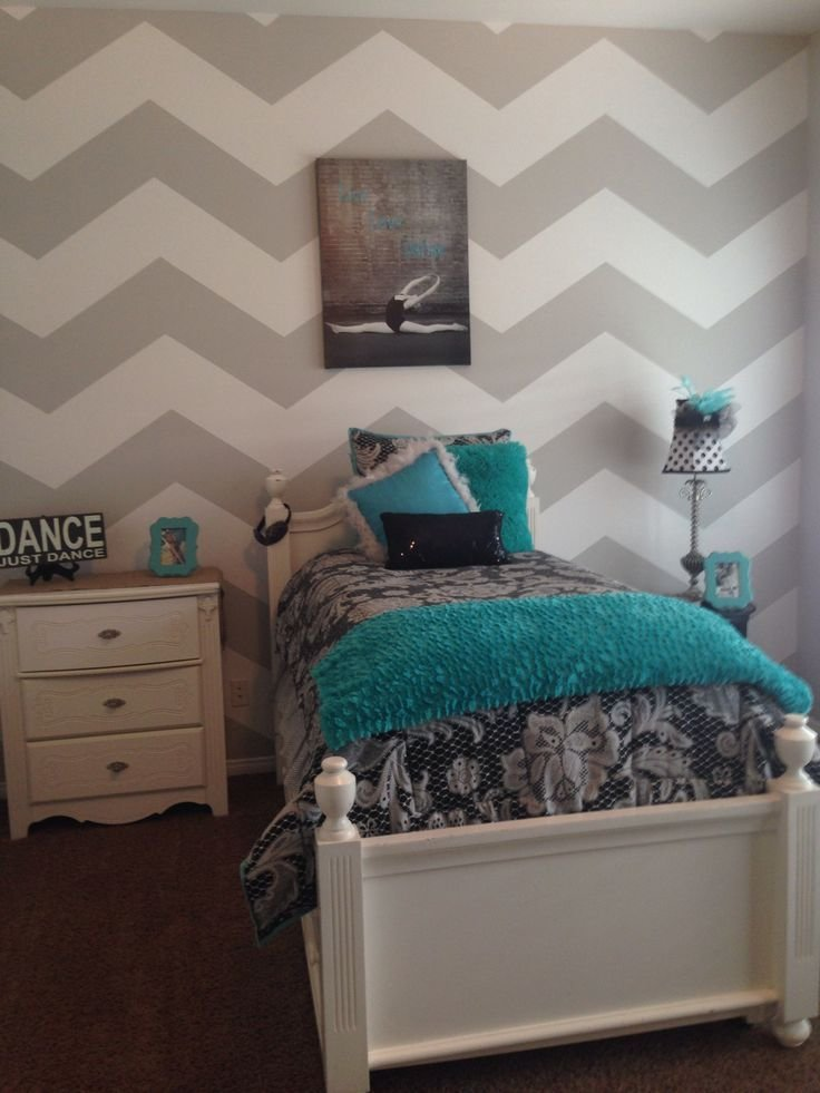 Best Grey And A White Chevron With Tiffany Blue Accents With Pictures