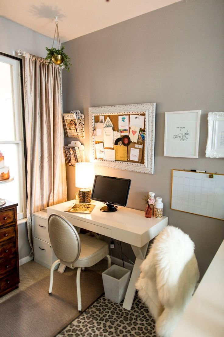 Best 17 Best Ideas About Small Bedroom Office On Pinterest Small Office Chair Small Office Decor With Pictures