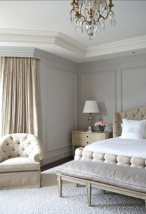 Best Beige And Gray Bedroom Features Gray Walls Painted With Pictures