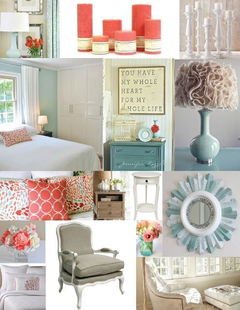 Best Master Bedroom Inspiration Board Blue Aqua Teal And Coral Master Bedroom Pinterest With Pictures