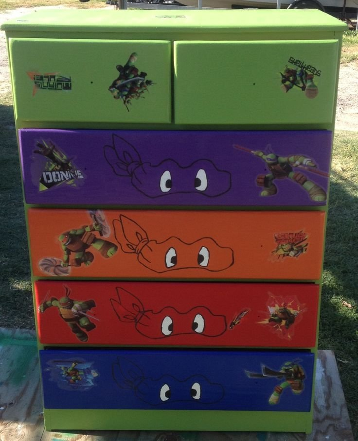 Best Ninja Turtle Dresser Projects Pinterest On The Side Boys And Ninja Turtles With Pictures
