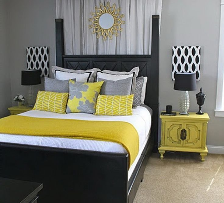 Best 17 Best Ideas About Gray Yellow Bedrooms On Pinterest With Pictures