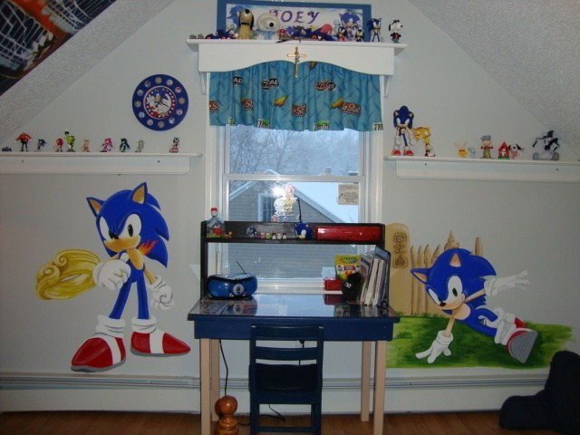 Best Sonic The Hedgehog Mural My Lil Bro Would Love This Kids Rooms And Ideas Pinterest The O With Pictures