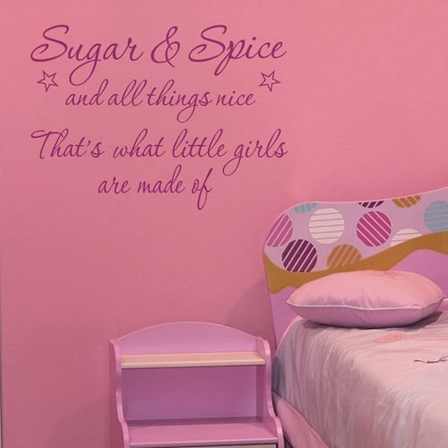 Best Girls Room Decor Ideas Sugar And Spice Wall Quote By With Pictures