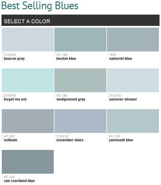 Best Selling Blues Benjamin Moore Can I Use Them All With Pictures
