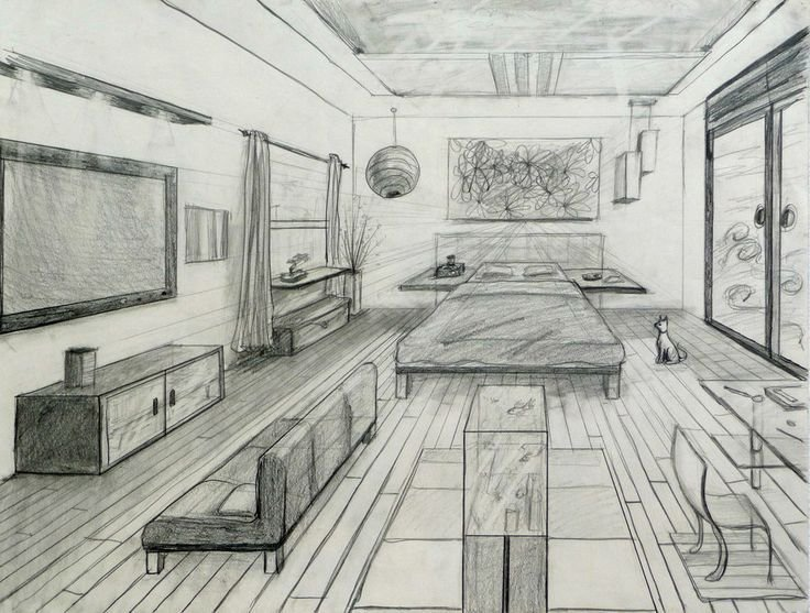 Best One Point Perspective Fancy Bed Room 20 One Point With Pictures