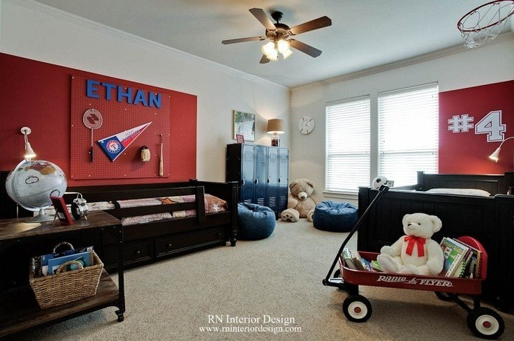 Best Boys Bedroom Sports Theme Design By Rania Nasser Of Rn With Pictures