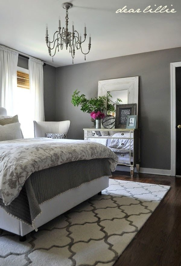 Best Some Finishing Touches To Our Gray Guest Bedroom By Rug Rug Usa Paint Bm Graystone Bedroom With Pictures