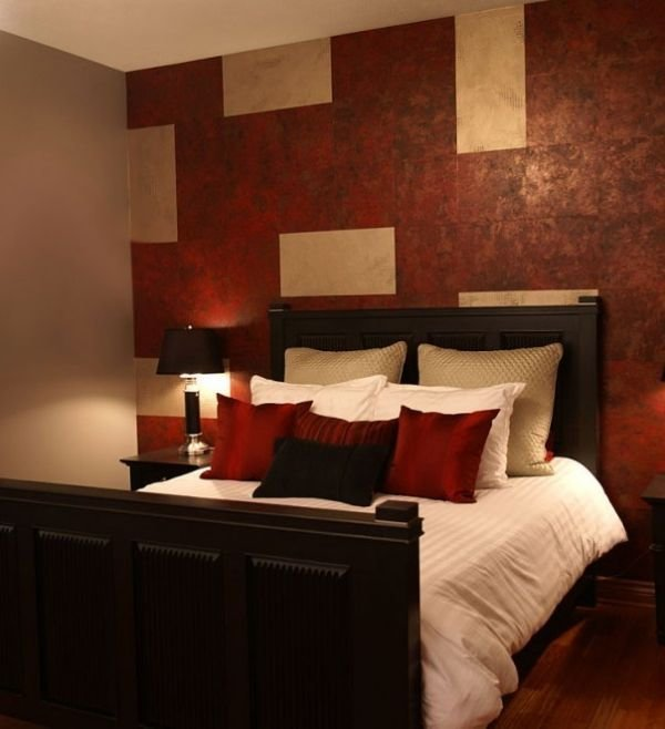 Best Red Bedroom Maybe Less Busy On The Accent Wall Decor To With Pictures
