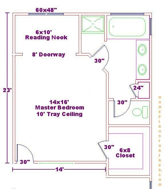 Best 14X16 Master Bedroom Floor Plan With Bath And Walk In With Pictures