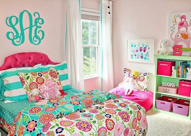 Best Carolina On My Mind Turquoise And Pink Big Girl Bedroom With Pictures