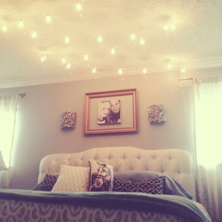 Best Globe String Lights Above The Bed Dream Home Pinterest With Pictures