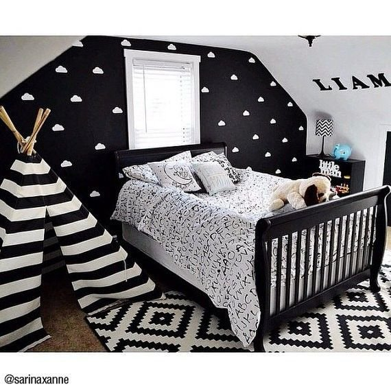 Best Cute Black And White Nursery Or Toddler Room Inspiration With Pictures