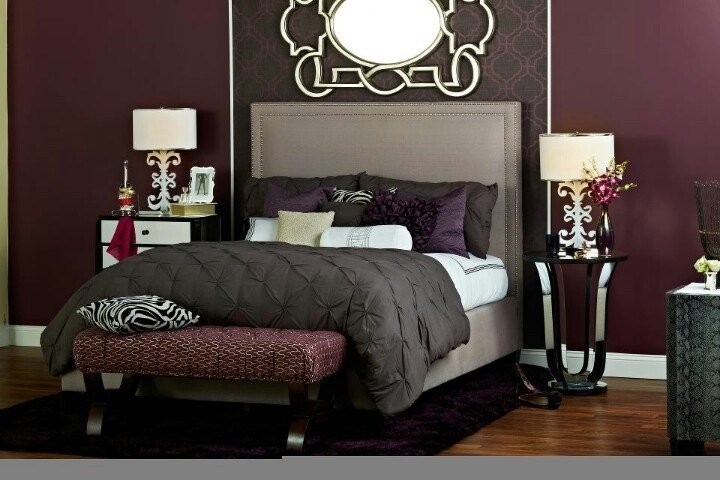 Best Deep Purple Burgundy And Browns Bedroom Decor Master With Pictures