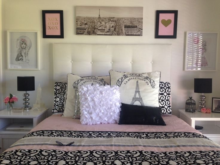 Best Pink Black And Gold Paris Bedroom Pink Room Inspiration With Pictures