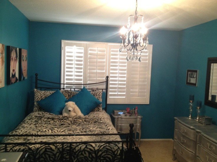 Best Teal Wall Paint Chandelier Silver Diy Furniture Make A With Pictures